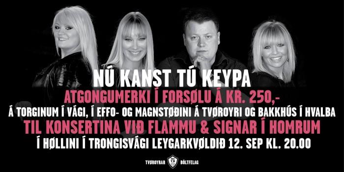 Konsert við Flammu og Signar í Homrum